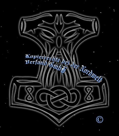 Thorhammer Aufkleber Thors-Hammer Mjölnir Sticker