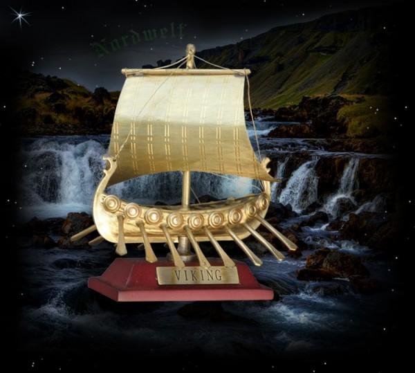 Wikingerschiff aus Messing
