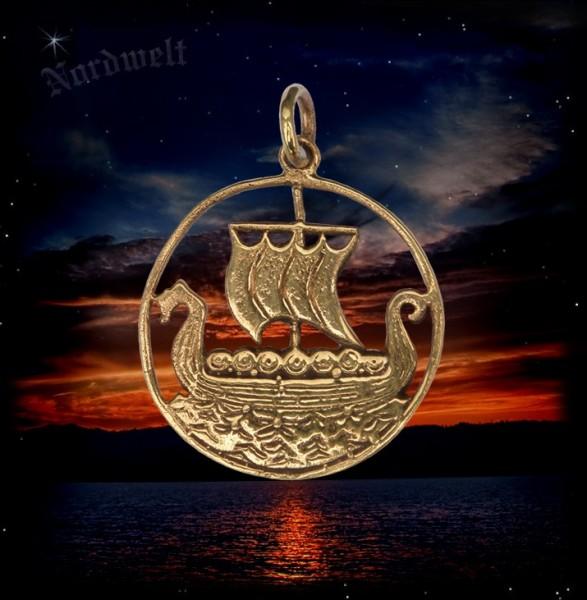 Wikingerschiff Schmuck Anhänger Bronze Anhänger Wikinger Mythologie