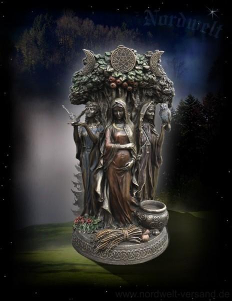 Figur Statue Schicksalsgöttinen die drei Nornen, Urd, Verdandi und Skuld