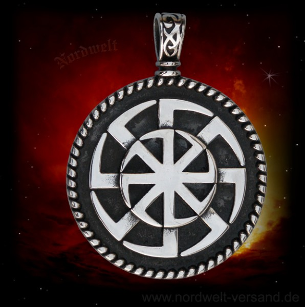 Kolovrat Sonnensymbol von Svarog Sonnenrad Slaven Schmuck Edelstahl