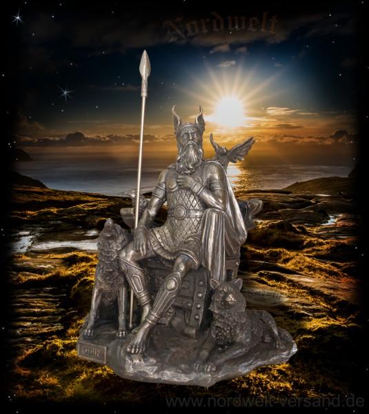 Göttervater Odin, bronzefarbend