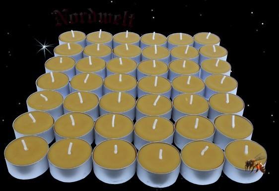 Teelichte aus Bienenwachs - 42 Stück
