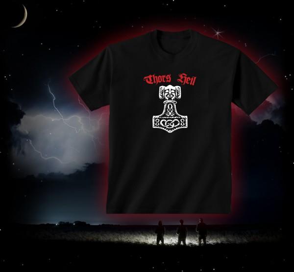 Thorhammer T-Shirt Thors Heil schwarz Thors- Hammer Pagan / Asatru T-Hemd