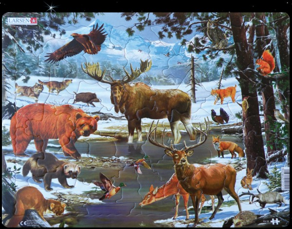 """Puzzle """"Skandinavien Naturlandschaft"""" - 54 Teile"""
