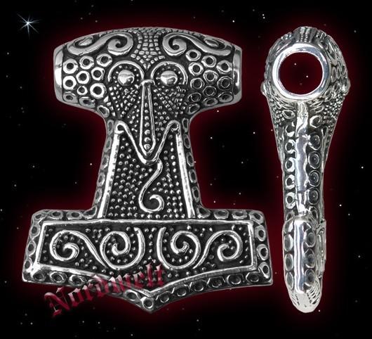Schone Thorhammer, schwerer Thors-Hammer 925er Silber Schweden Mjölnir