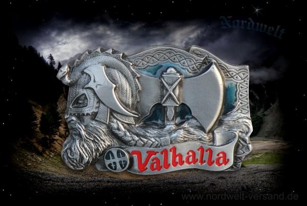 Valhalla Gürtelschnalle Walhalla Buckles Odins Halle in der sich die Einherjer Krieger sammeln Totenhalle Trinkhalle