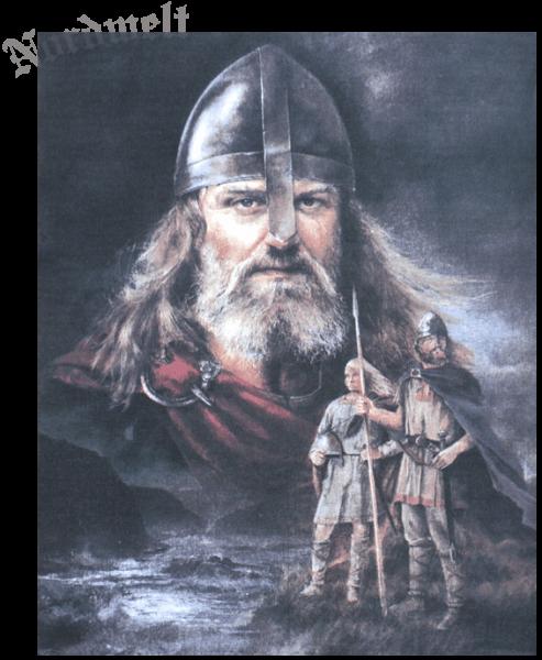 Wikinger mit Sohn Stoffposter mythologische Kunstdrucke auf Textilien Wikingerkrieger