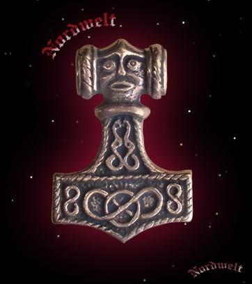 Thorhammer Anhänger Bronze Thors Hammer Mjölnir Wikinger
