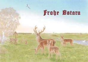 Ostara Ostarafest frohe Ostern heidnische Postkarten Brauchtum Postkarte