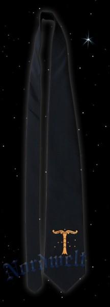 Krawatte mit bronzefarbener Irminsul