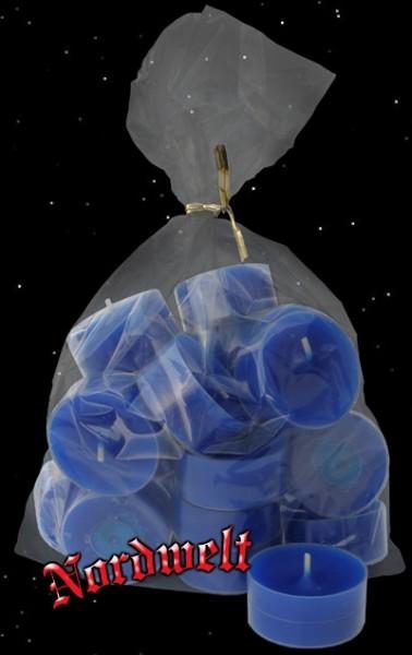 nachtblaue Teelichter 20 Acryl-Cup