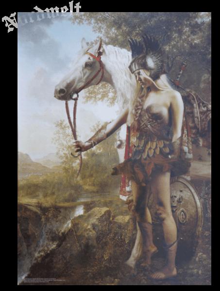 Odins Schildmaid Walküre Schildjungfrau Poster Kunstdruck