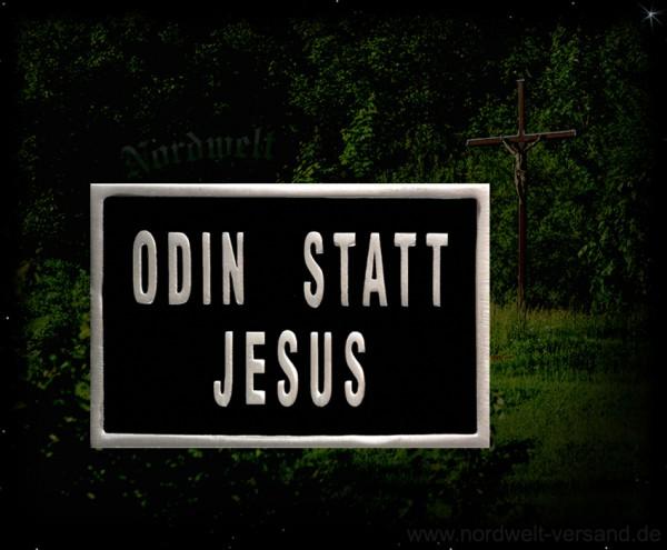 """Gürtelschnalle """"Odin statt Jesus"""""""