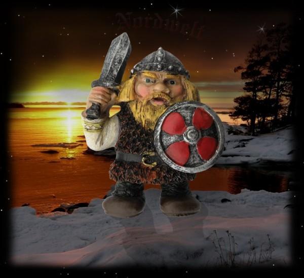 Wikinger mit Schwert Magnet für Kühlschrank