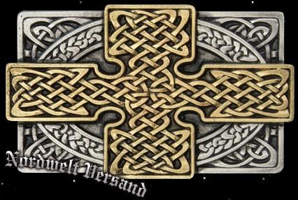 "Gürtelschnalle ""Keltisches Gold"", vergoldet"