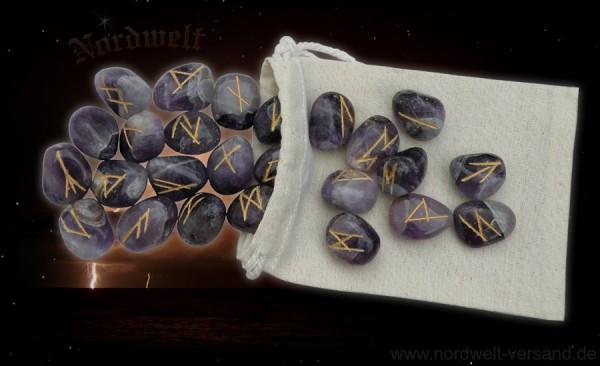 Amethyst Runen Runensteine