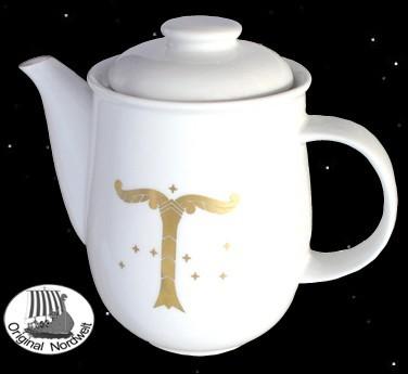 Irminsul Kaffeekanne mit Weltenbaum Weltenesche Yggdrasil