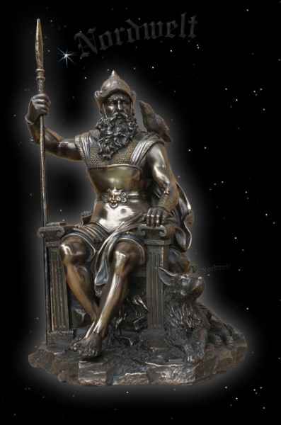 God father Odin, figure, bronzed