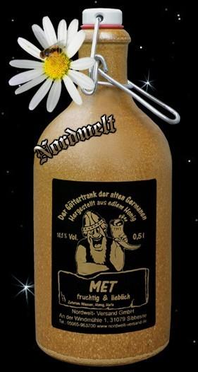 """Met """"fruchtig / lieblich"""" in Tonflasche"""