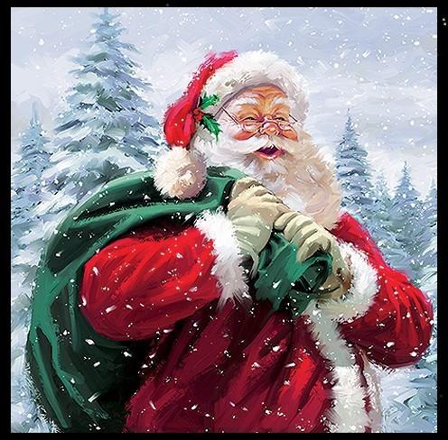 Weihnachtsmann Julmann Julemand Julemanden oder Yule-Man Julfest Servietten