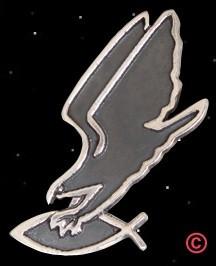 Adler greift Fisch, Anhänger silber heidnisches Symbol PAGAN Asatru