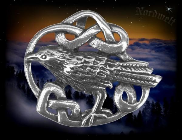 Odins Rabe Anhänger aus 925er Silber Wikinger Schmuck Hugin und Munin