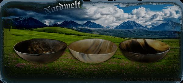 Schale aus Horn Hornschale Hornware Naturschalen Suppenschale Wikinger Mittelalter Reenactment LARP