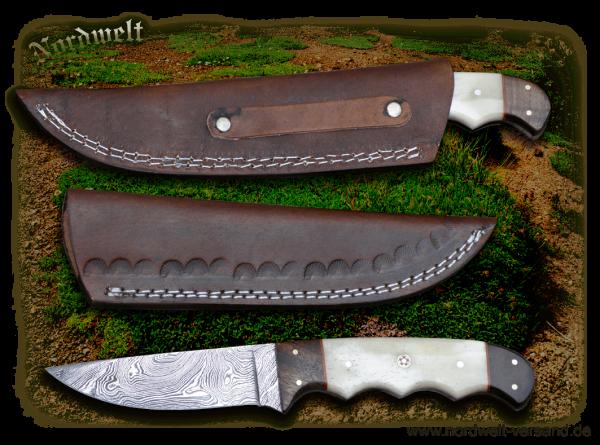 Ourdoormesser Jagdmesser Gebrauchsmesser aus Damaszenerstahl Freizeitmesser