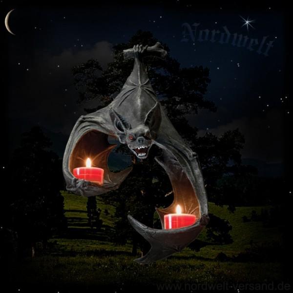 Fledermaus Wanddekoration Kerzenhalter Vampir Gothik Dekoration Deko