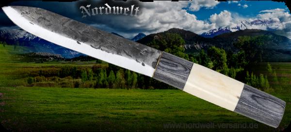 Sax Wikinger Messer Gebrauchsmesser Wikingermesser Knochen-Griff