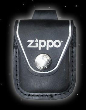 Original Zippo- Ledertasche mit Gürtelhalterung - schwarz