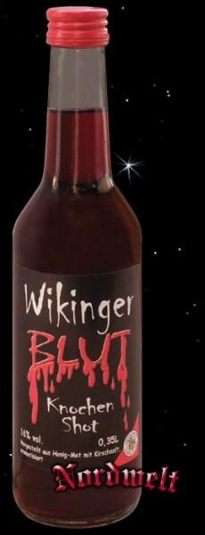 Met- Kirsch- Likör Knochen Shot Wikinger-Blut 16% vol.