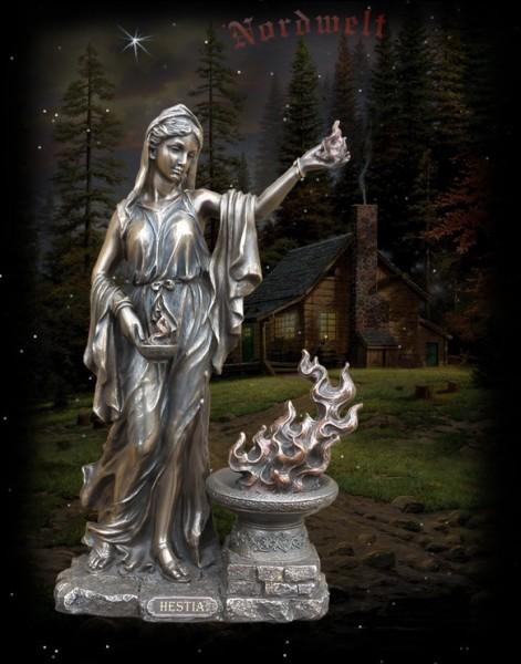 Göttin der Familie und der Herdfeuers, Hestia, bronzefarbend