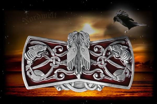 Keltische Gürtelschnallen Gürtelschließen mit keltischen Tiermotive Buckle Raben