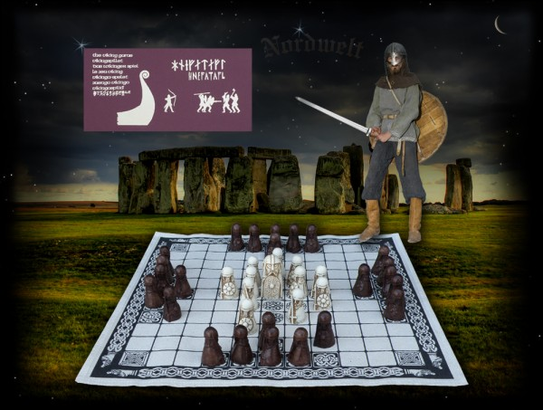 Hnefatafl ist ein anspruchsvolles Wikingerspiel Brett- Strategiespiel Wikinger Schachspiel Tafl- Spiele Frühmittelalter