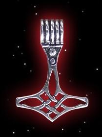 Zierlicher Thorhammer mit Geflecht - 925er Silber