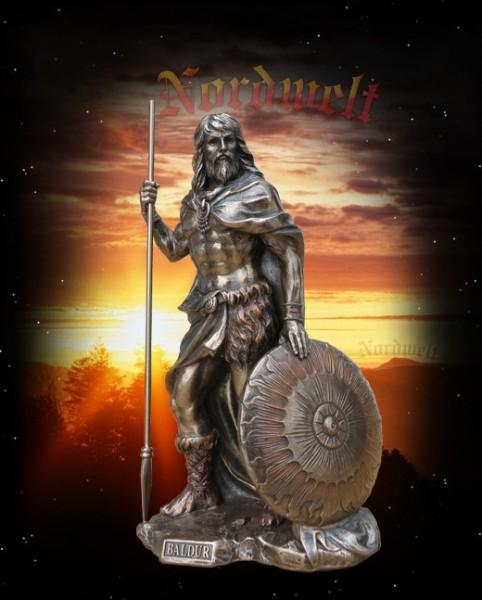 Statue / Figur Baldur bronziert, Sonnengott und Lichtgott der Germanen und Wikinger