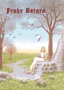 "Postkarte ""Ostara an der Quelle"" Frühlingsgöttin"