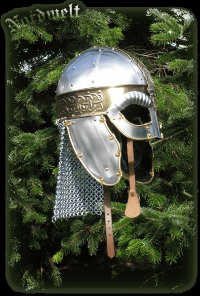 Wikingerhelm Brillenhelm, Helm der Wikinger und Angelsachsen Beowulf