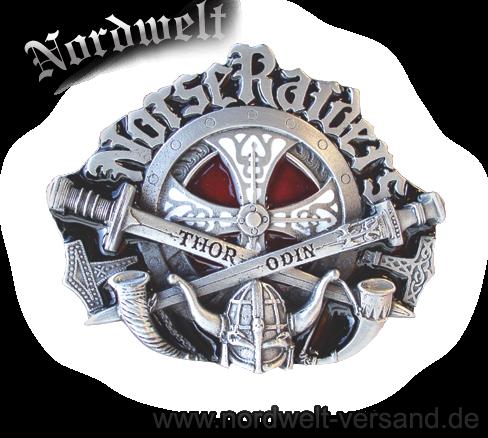 Norse Raiders - Nordischer Angriff Schwert Buckles Gürtelschnalle