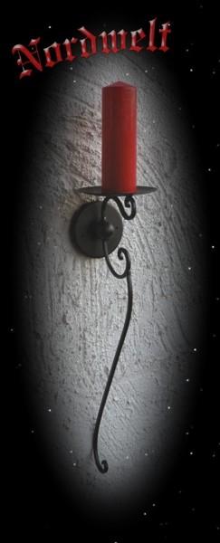Mittelalterlicher Kerzenhalter schmiedet aus Eisen