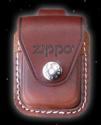 Original Zippo-Ledertasche, mit Gürtelhalterung (braun)