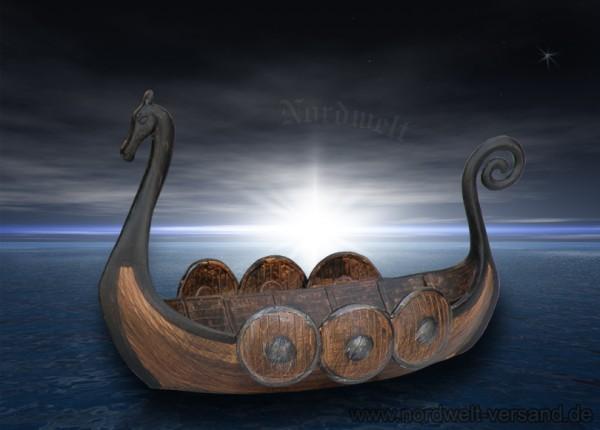 """Schale """"Wikingerschiff"""" (klein), Polyresin"""