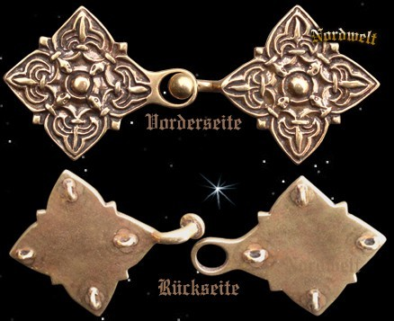Mantelspange aus Bronze (10. Jhdt.), 2-teilig