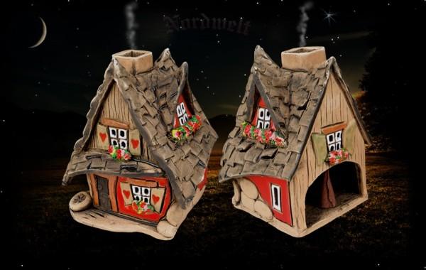 "Räucherhaus Keramik ""mit schiefem Dach"""