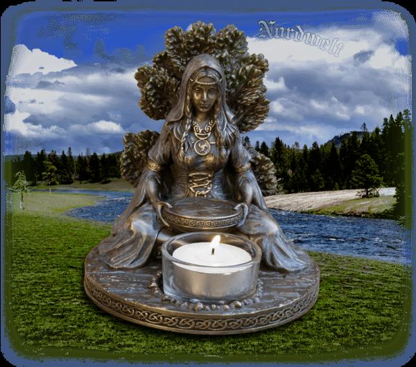 Muttergöttin Danu Keltische Göttin Figur Statue Dana irisch Muttergöttin Mutter Erde
