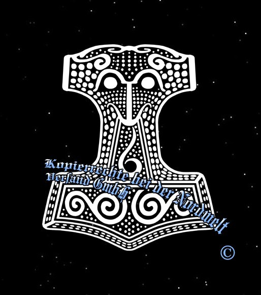 Skane Thorhammer Thors-Hammer Aufkleber Pagan