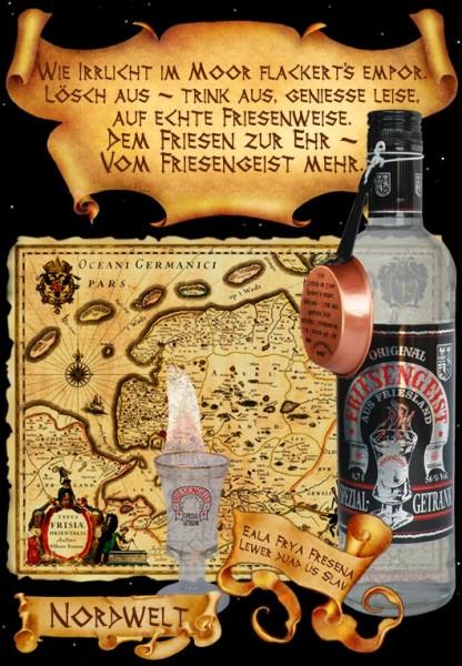 Friesengeist Friesen Schnaps 56% vol; 0,7 Liter Flasche