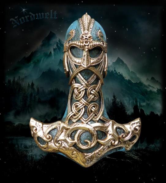 Thors Hammer Mjölnir Wandschmuck Wanddekoration
